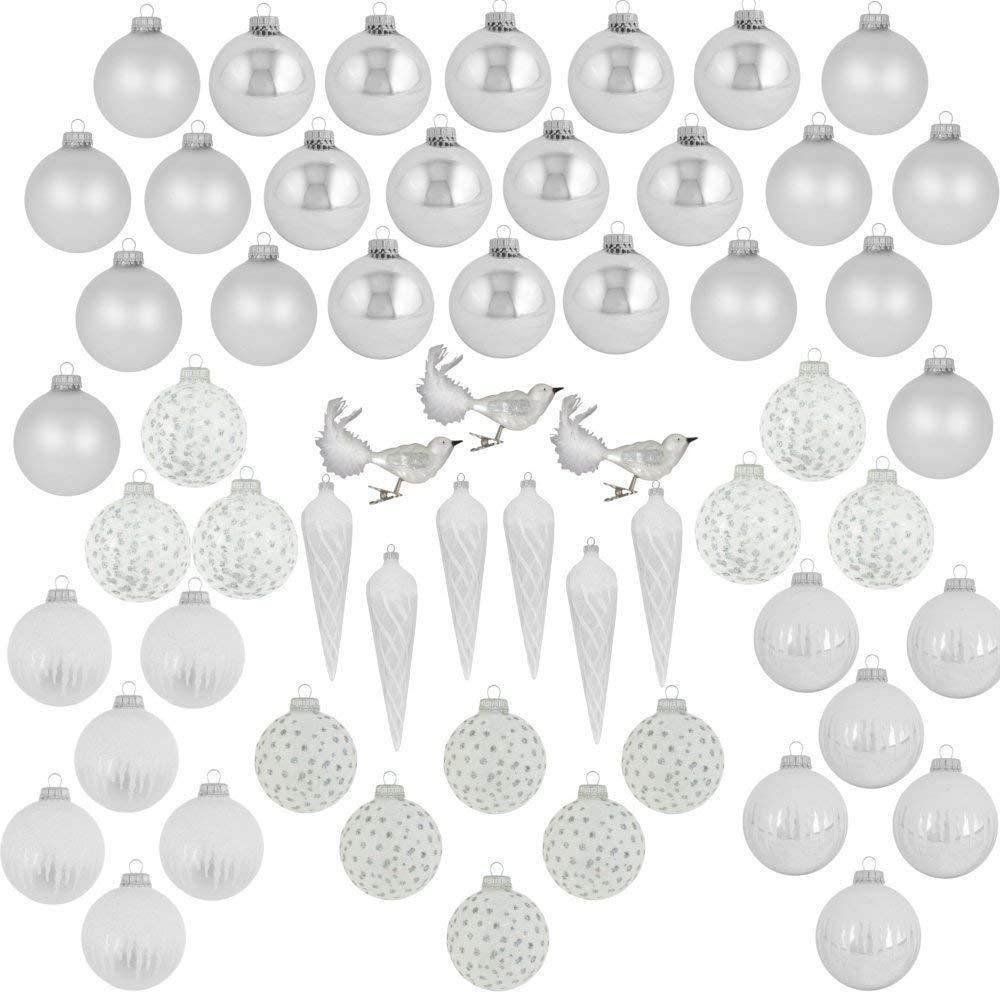 Classic Silver Glass Ornament Decorating Trimkits