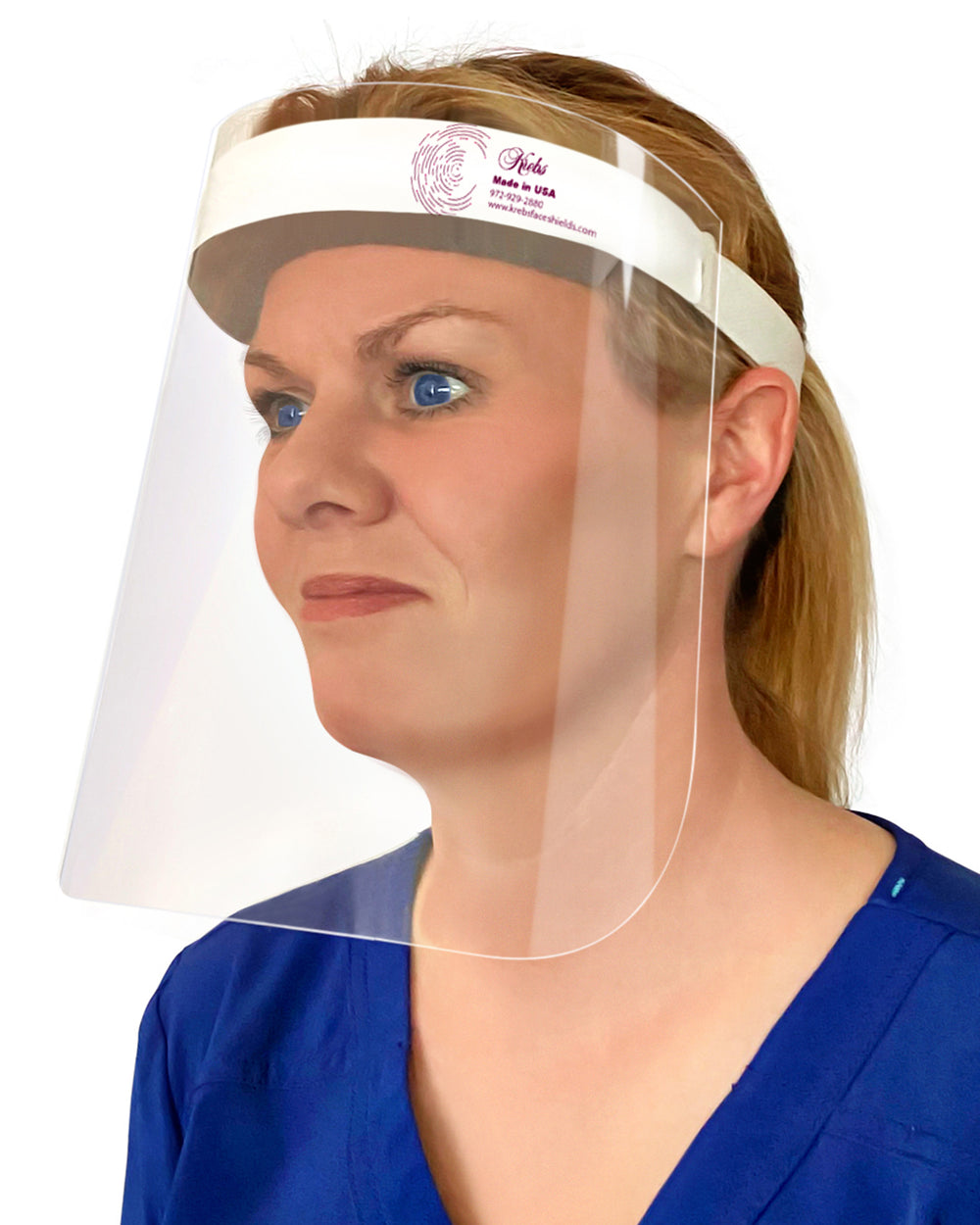2-Pack Lightweight Safety Medical Face Shields - Anti-Fog, Anti-Static, Hypoallergenic