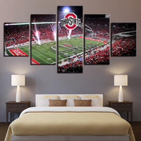 Five Piece Ohio State Dotting The i Painting
