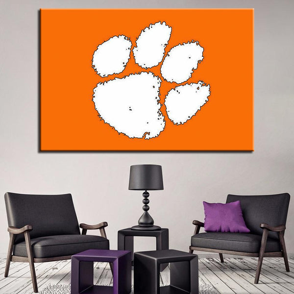 One Piece Landscape Clemson Paw Painting