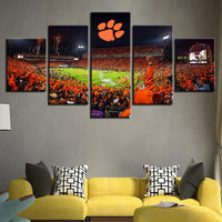 Five Piece Clemson Stadium Painting