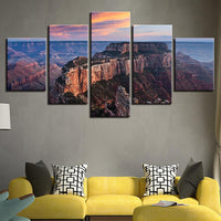 Five Piece Grand Canyon Painting