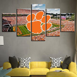 Five Piece Clemson Stadium Logo Painting