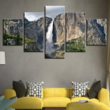 Five Piece Yosemite Park Painting