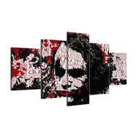 Five Piece Comical Joker Painting