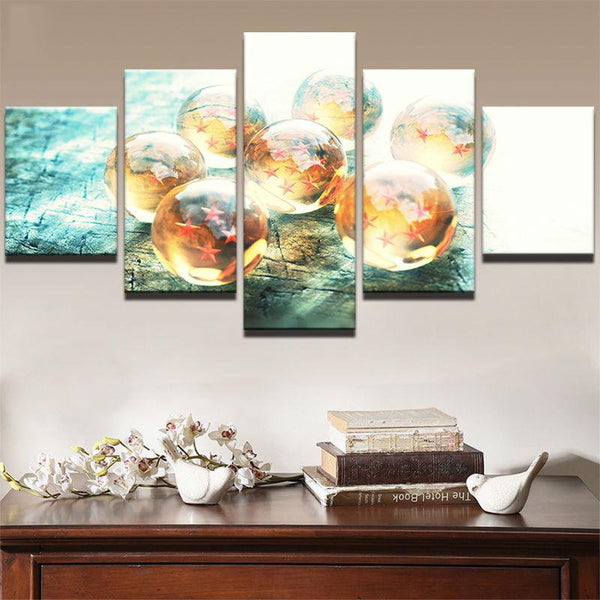 Five Piece HD Dragon Ballz Painting