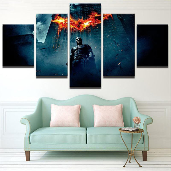 Five Piece Dark Knight Batman Painting