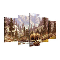Five Piece Bear Painting
