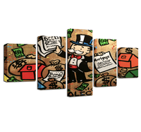 Five Piece Monopoly Cartoon Painting