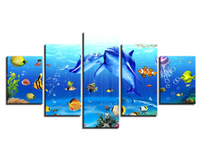 Five Piece Coral Reef Painting