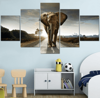 Five Piece Elephant Painting