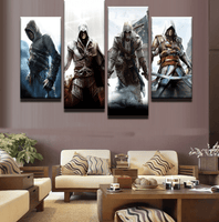 Four Piece Assassins Creed Painting