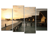 Four Piece Wooden Bridge Painting
