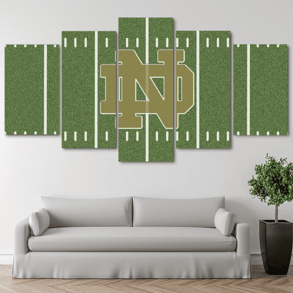 Five Piece Notre Dame Logo Painting