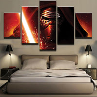 Five Piece Star Wars Kylo Ren Painting