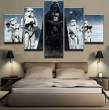 Five Piece Darth Vader and Stormtroopers Painting