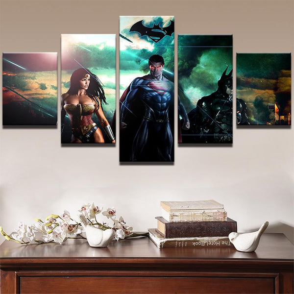Five Piece Justice League Painting