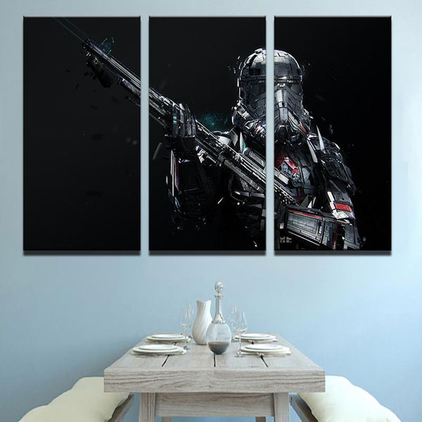 Three Piece Star Wars Trooper Painting