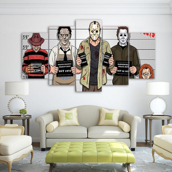 Five Piece Horror Painting