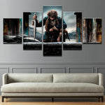 Five Piece Lord Of The Rings Movie Painting