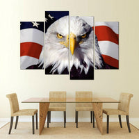 Four Piece American Bald Eagle Painting