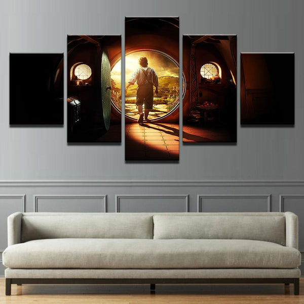 Five Piece Abstract Lord Of The Rings Painting