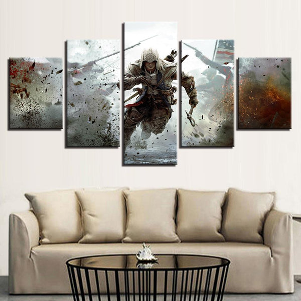 Five Piece Assassin's Creed Painting