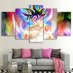 Five Piece Action Goku Painting