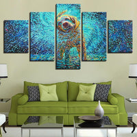 Five Piece Abstract Dog Painting