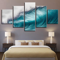 Five Piece HD Wave Painting