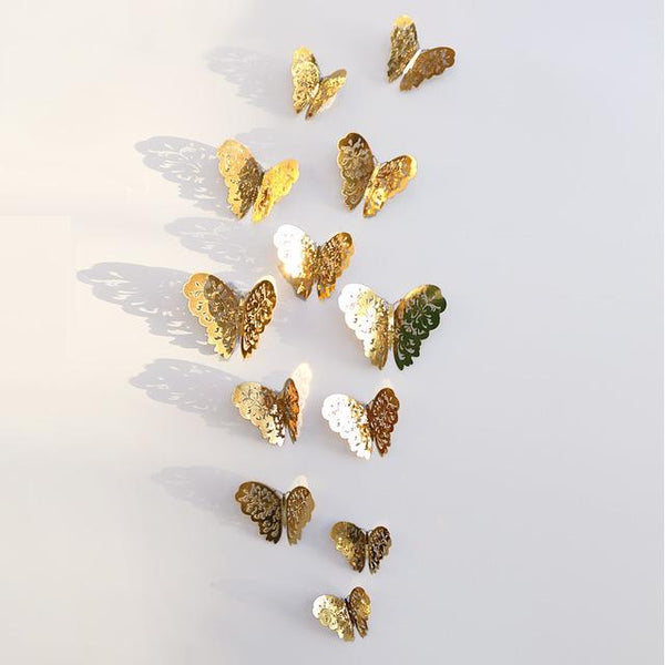 PiecePaintings 3D Butterfly Stickers Wall Decor