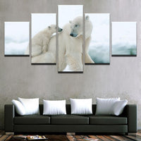 Five Piece Baby Polar Bears Painting