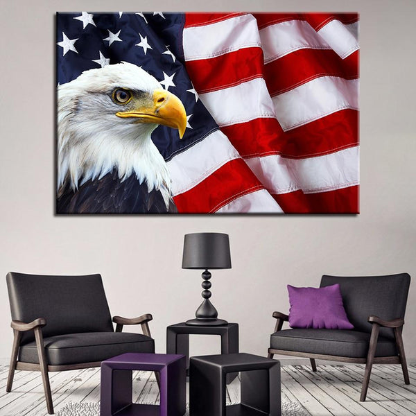 One Piece American Bald Eagle Painting