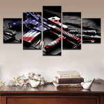 Five Piece American Gun Painting