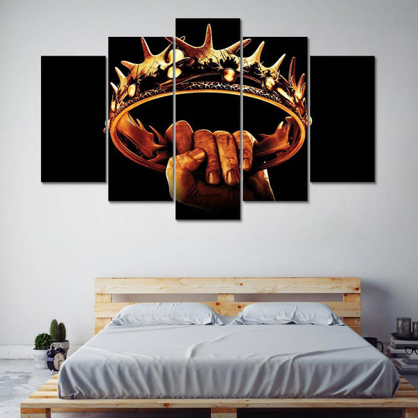 Five Piece Game Of Thrones Crown Painting