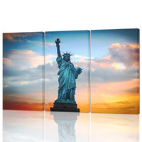 Three Piece Statue of Liberty Painting