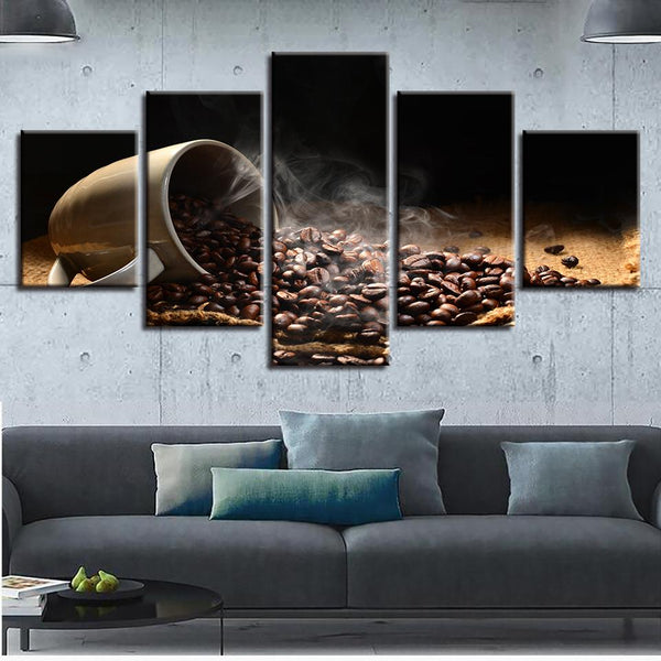 Five Piece Coffee Painting