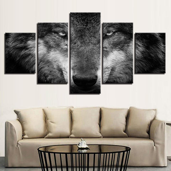Five Piece HD Wolf Painting