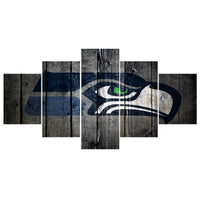 Five Piece Seahawks Logo Painting
