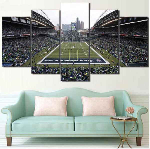 Five Piece Seahawks Stadium Painting