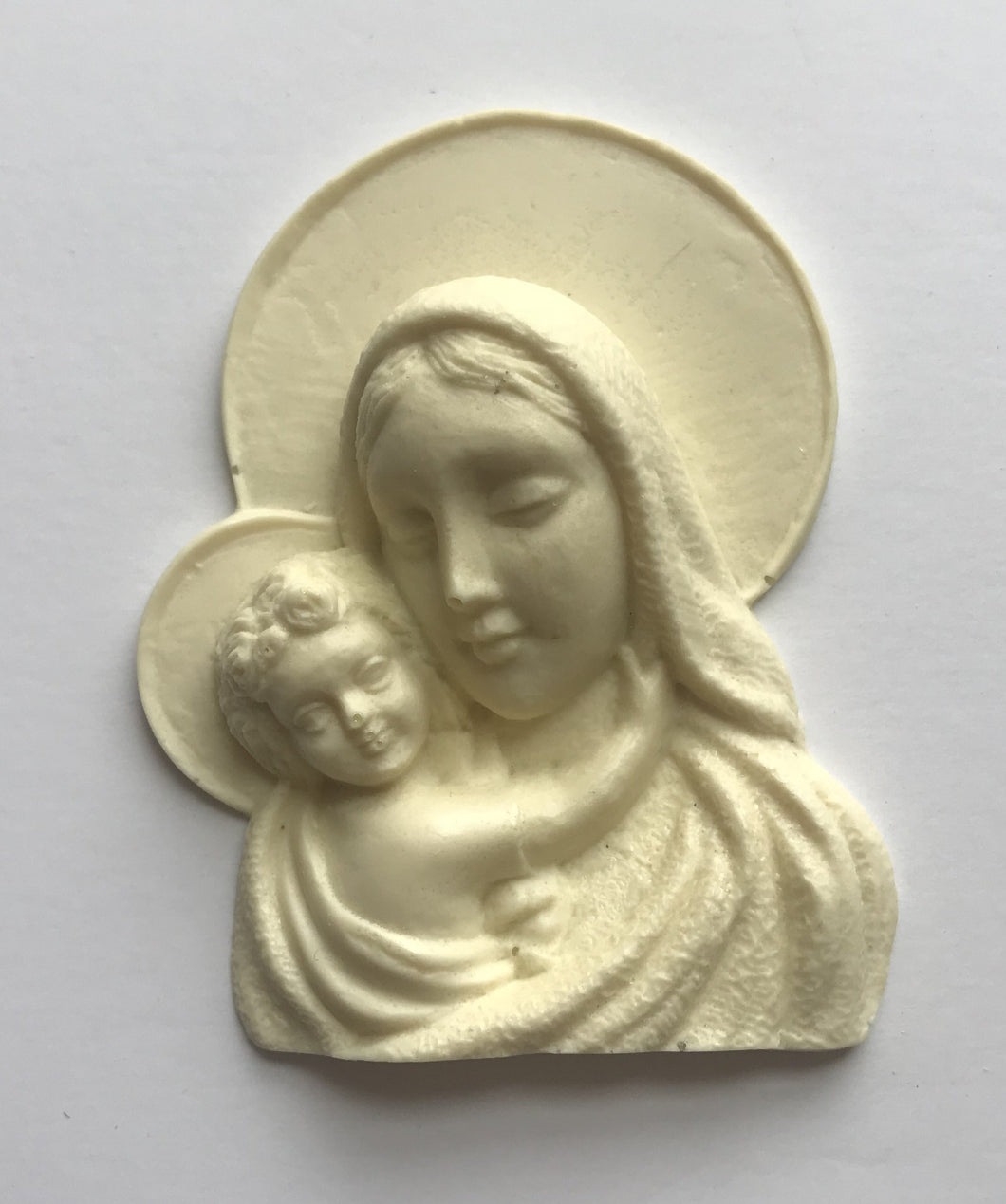 Virgin Mary with baby Jesus silicone mold