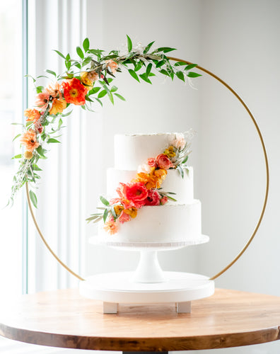 14 inch Plateau Cake Stand with gap section for Metal Hoop