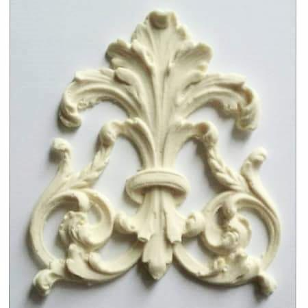Regal fleur de lis and leaf silicone mold