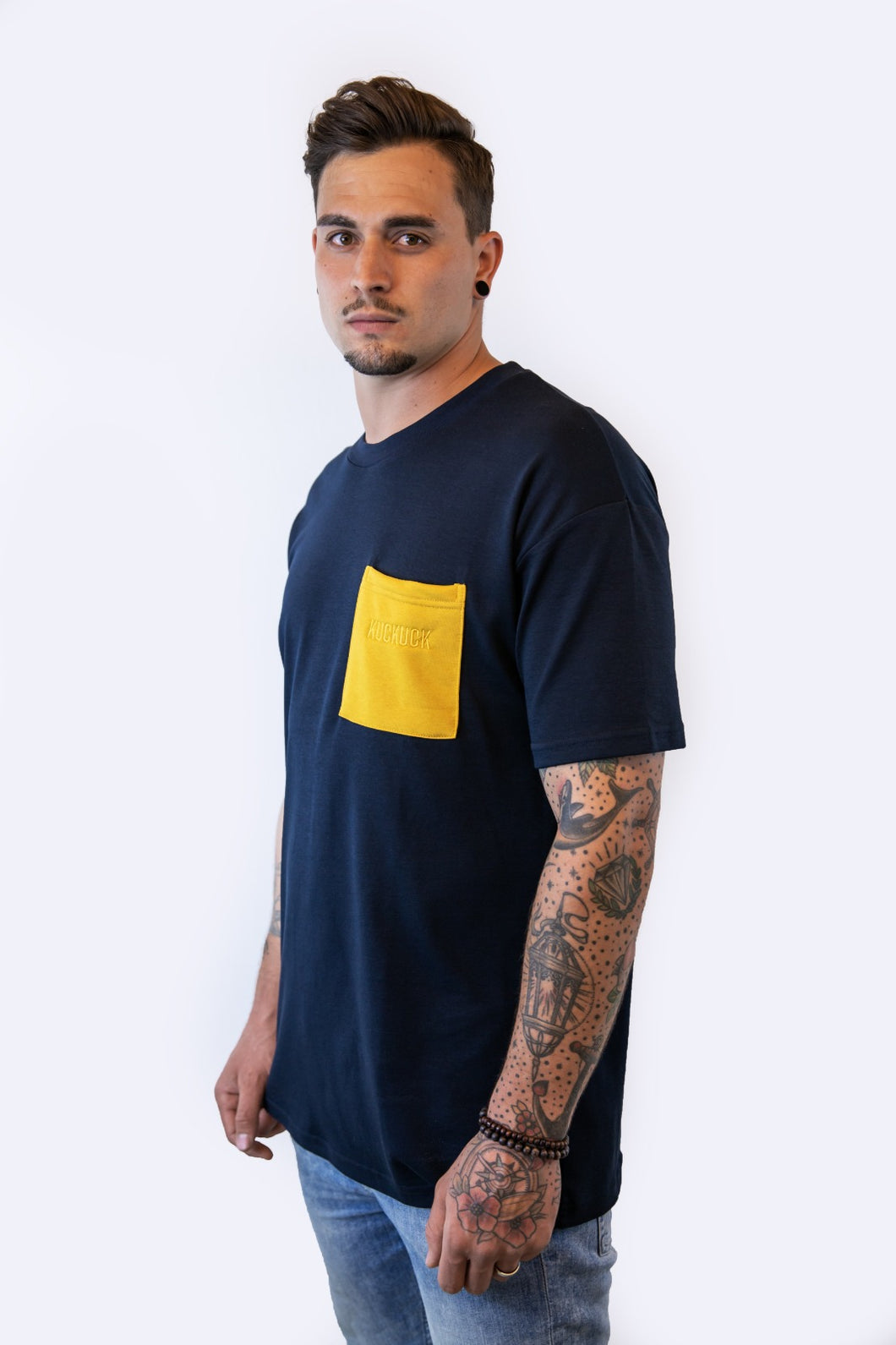 Pocket Shirt Navy/Yellow Unisex