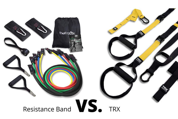 TRX Suspension Belt vs. Weerstandsbanden set