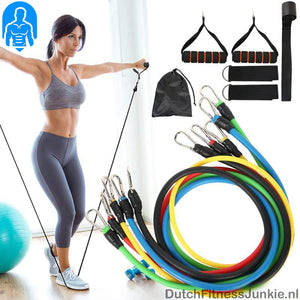 Weerstandsband Set -Home Gym- 11 delig