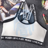 Sport BH - Peace-love-Flirt - Wit / One Size Fits All