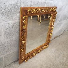 "Load image into Gallery viewer, French Square Shape Mirror *1 Available* 29""H x 29""W French Furniture Rococo Baroque Wall Mirror Gold Mirror"
