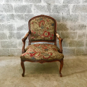 Antique French Chair Arm Chair Petit Point Tapestry *1 Available* French Chair Rococo Furniture Baroque Antique Furniture Antique Chair