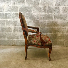 Load image into Gallery viewer, Antique French Chair Arm Chair Petit Point Tapestry *1 Available* French Chair Rococo Furniture Baroque Antique Furniture Antique Chair